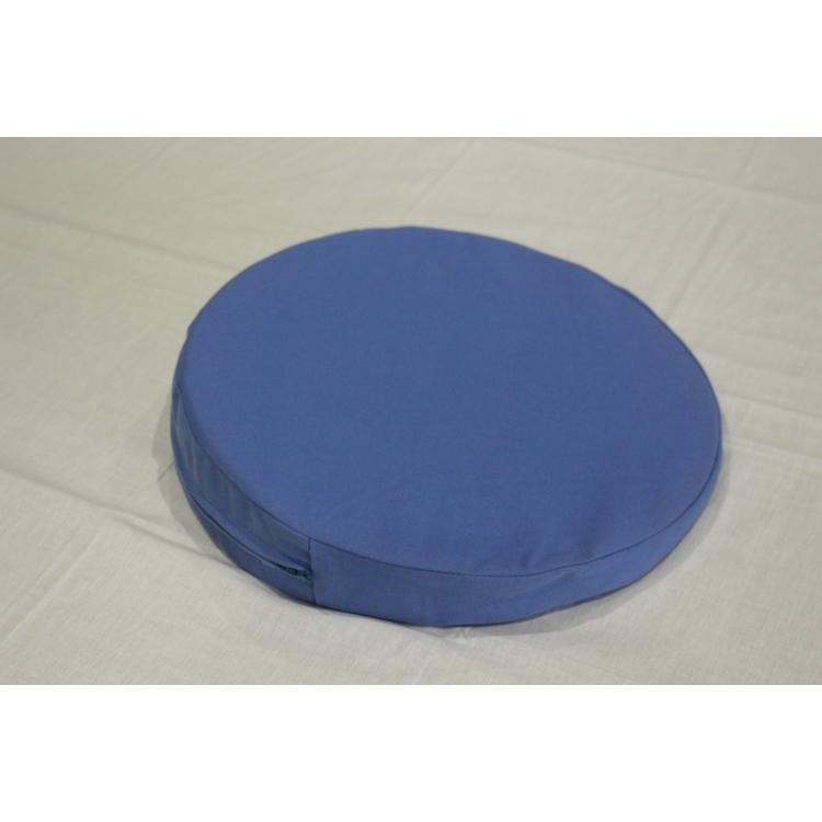 Keilkissen mit Stoffbezug / rund 35 x 6/1 cm