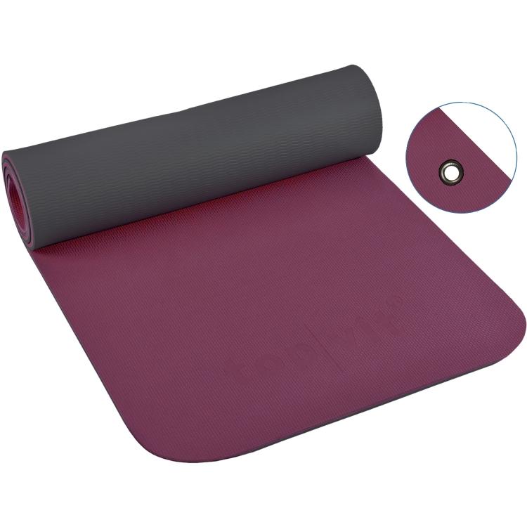 top | vit® Yogamatte mit Ösen, 180 x 60 1,0 cm