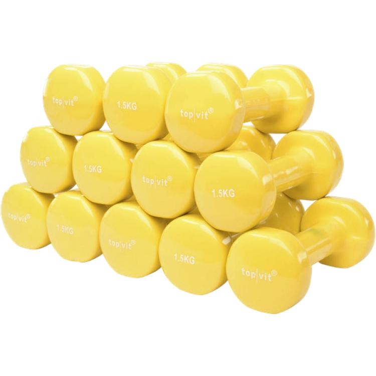 top | vit® dumb.bell Sparpaket   6 Paar 1,5 kg - gelb