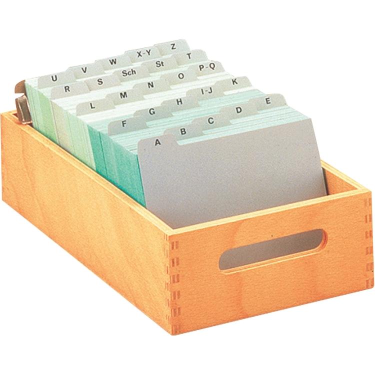 Öffne Karteitrog aus Holz, A5 quer für ca. 900 Karten