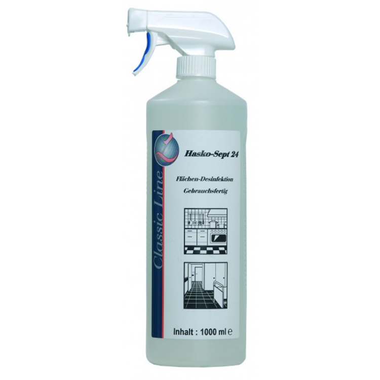 Öffne Hasko-Sept Flächendesinfektionsmittel, 1l Sprühflasche