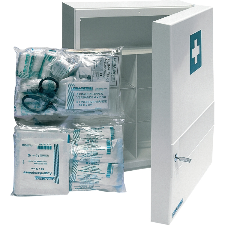 Öffne Füllung für Sanitätsschrank DIN 13157