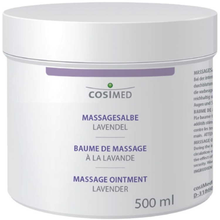 Öffne Massagesalbe Lavendel, 500 ml Dose