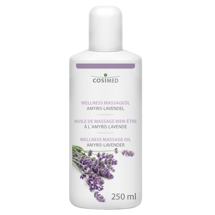 Öffne Wellness Massageöl Amyris-Lavendel 250 ml / 500ml / 1L / 5L