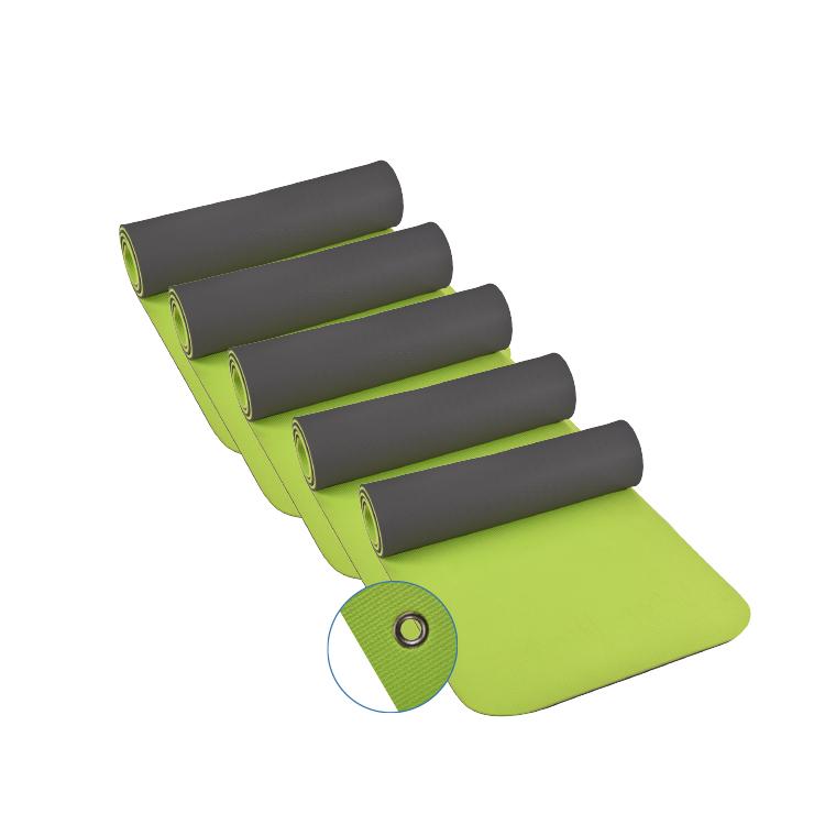 top | vit® Yogamatte mit Ösen, 180 x 60 x 1,0 cm, 5er SET