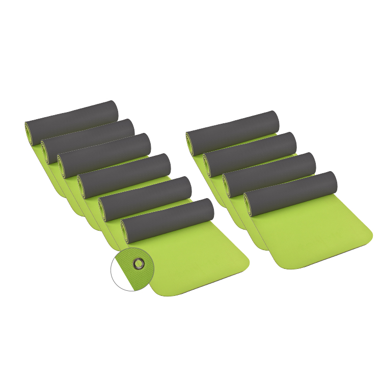 Öffne top | vit® Yogamatte mit Ösen, 180 x 60 x 1,0 cm, 10er SET